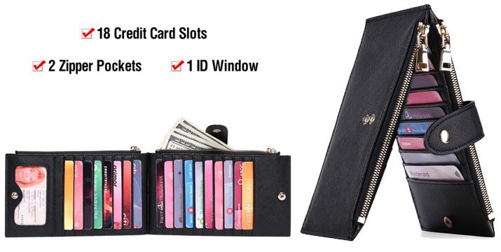 Γυναικείο Πορτοφόλι RFID με Θήκες για Κάρτες - women wallet rfid credit card wallet - Credit Card Holders cyprus
