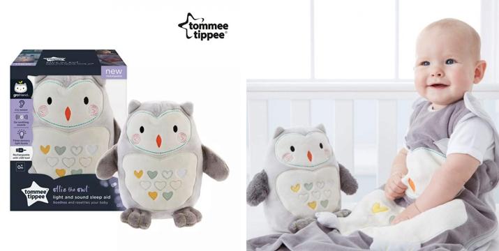 Ollie the Owl – Λούτρινο Παιχνίδι – Βοήθημα Ύπνου Tommee Tippee Grofriend Βελούδινο Φωτιστικό Επαναφορτιζόμενο – Η Κουκουβάγια Ζωάκι Συντροφιάς - Tommee Tippee Grofriend Ollie The Owl Sleep Aid with Sound and Night Light, Grey - tommee tippee cyprus