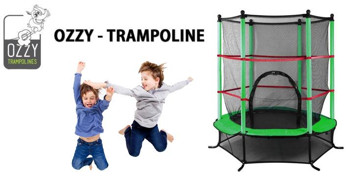 Τραμπολίνο Ozzy για Παιδιά με Δίχτυ Ασφαλείας - 4.5 Feet - trampoline ozzy cyprus