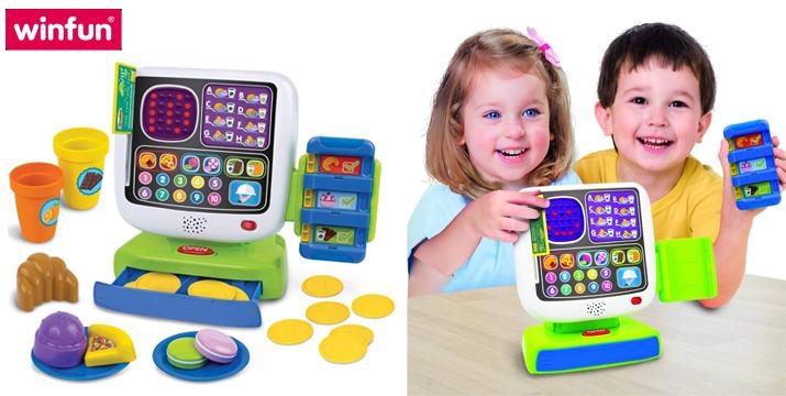 Παιχνίδι ταμειακή μηχανή - Η Έξυπνη Παιδική Ταμειακή Μηχανή - winfun 002515 Smart Café Cash Register Set - 1200017 - toys cyprus - skroutz toys - skroutz cyprus - toyshop cyprus